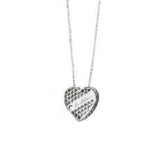 Necklace Salvini Golden Cage collection heart motif necklace white gold with diamond