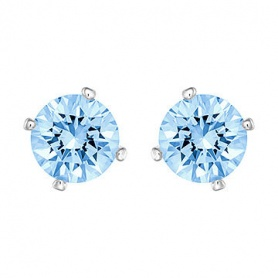 Orecchini Swarovski Attract Pearl punto luce azzurro lobo - 5166806