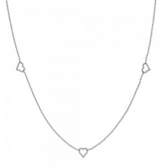 Gucci chanel necklace Micro Boule Hearts and double G motif in silver