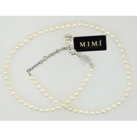 Collana in perle bianche Mimì elastica - C023XO1