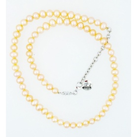 Mimi Creme Perle Halskette-C023XO2