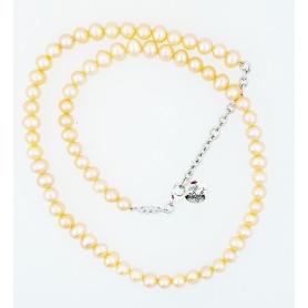 Pearls Necklace cream color Mimi elastic line - C023XO2