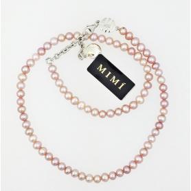 Lila Perlen Halskette Mimi-C023XO3