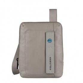 Piquadro borsello a tracolla in pelle grigia porta mini Ipad  - CA3084B2/GR