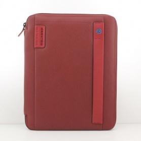 Piquadro Portablocco Sottile A4 Format mit rot-Tagesordnung PB2830P15/R