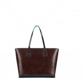Piquadro shopping bag orizzontale pelle Mogano - BD3336B2/MO