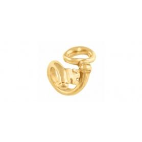Anello donna Uno de50 motivo chiave in metallo bagnato gold