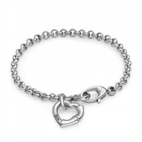 Bracciale Bamboo Gucci cuore argento - YBA390138001017