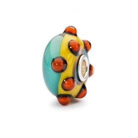 Hopeful Poppies Trollbeads  beads glass - TGLBE-10270