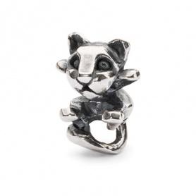 Curious Kitten Trollbeads beads silver - TAGBE-20113