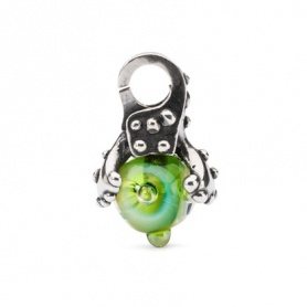 Leaves of Hope pendant Trollbeads silver and glass