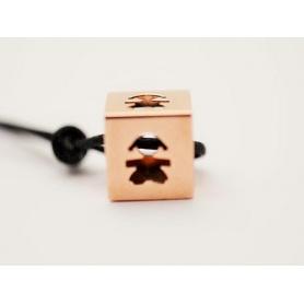 Halskette mit Würfeln weibliche Le Bebè Rose Gold - DLB018