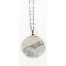 Mimi Shelley medallion necklace in mother of pearl - PK531C8MP