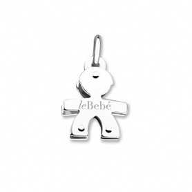 Necklace pendant Le bebè boy in white gold small size