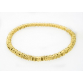 Marchisio Etruscan gold bracelet 18kt and stainless