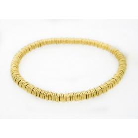 Marchisio etruskischen Goldarmband 18kt und Edelstahl