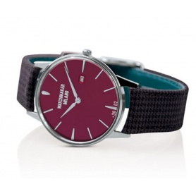 Weinlese-Uhr Watchmaker Milano rotes Zifferblatt - WM.00A.04