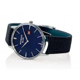 Weinlese-Uhr Watchmaker Milano blaues Zifferblatt - WM.00A03
