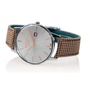 Weinlese-Uhr Watchmaker Milano silbernes Zifferblatt gold - WM.00A.09