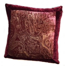 Cuscino Etro con bordo colore bordeax