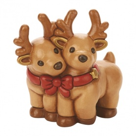 Thun two reindeer with bow - S2237A82