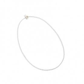 Collana Queriot motivo catena rollò in argento e oro - C12A0390