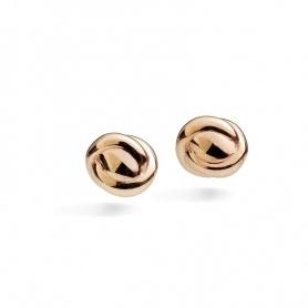 Micro orecchini lobo motivo nodino in oro rosa Queriot - O13O02SMA