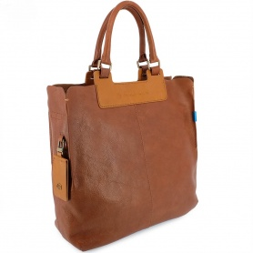 Borsa donna shopper Piqaudro Nucleus cuoio- CA3065S65/MVE