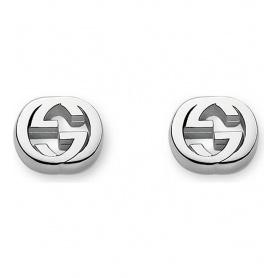 Orecchini lobo Gucci doppia G argento - YBD35628900100U
