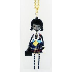 Collana bambola Le Carose Flappers scozzese pvd nero