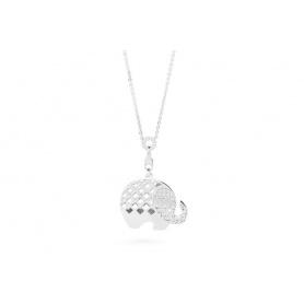 Rosa Elefant Silber Halskette