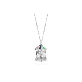 Rosato silver necklace with carousel