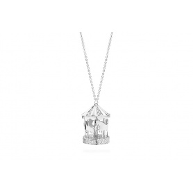 Collana in Argento Rosato con pendente giostra silver