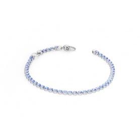 Rosato bracciale Tennis blu con zirconi