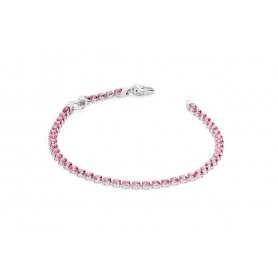 Pinkish red cubic zirconia Tennis bracelet