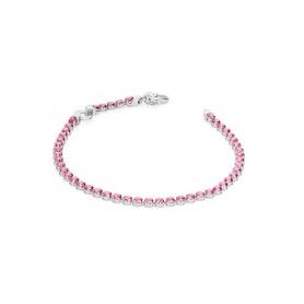 Rosa rot Zirkonia Tennis Armband
