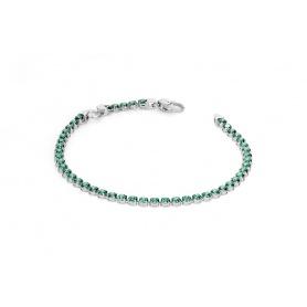 Rosa grün Tennis Armband mit Zirkonia