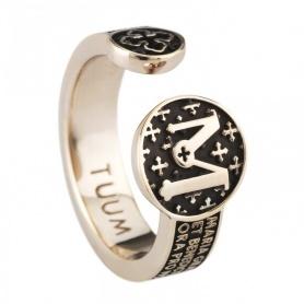 Bronze verchromt Silber Ring Infinituum TUUM Mater