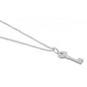 Collana chiave pendente piccola Tous argento