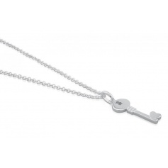 Key necklace pendant small silver Tous