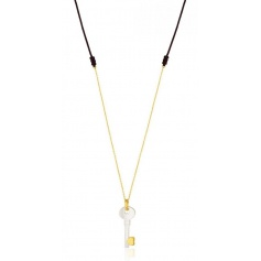 Necklace mother of Pearl and gold key pendant Tous