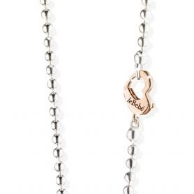 Herz-Kette-Halskette in Silber und gold The Baby-SNMA001