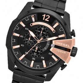 Diesel watch model Mega Chief Black and rosé-DZ4309