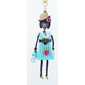 Collana bambola Le Carose Flappers abito celeste