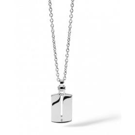 Collana Comete Uomo in acciaio e diamante linea Zero