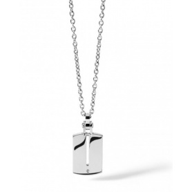 Men's stainless steel and diamond necklace Comets Zero line