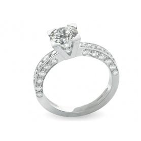 Diamond ring Giorgio Visconti white gold line Icona1 - AB15366D