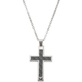 Stainless steel necklace cross pendant, Armani-EGS1705040