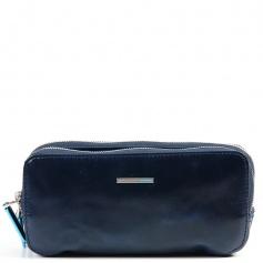 Piquadro blue leather case-AC2141B2/Blue2