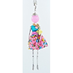 The Carose doll necklace pendant floral design